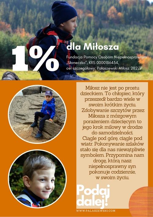 1% dla Miłosza Pałaszewskiego