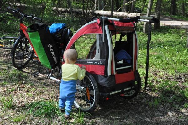 Przyczepka rowerowa dla dzieci - wycieczka średnią pętlą wokół Narewki