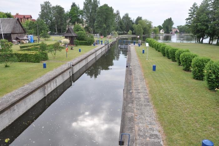 Śluza Augustów - okolice Parku przy Starej Poczcie.