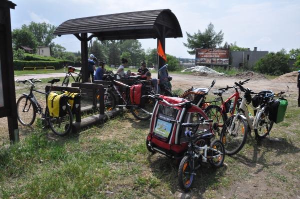 Przyczepka rowerowa dla dzieci - wycieczka Kaszubską Marszrutą