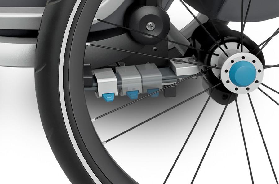 Thule Cross - regulowana amortyzacja w przyczepce rowerowej