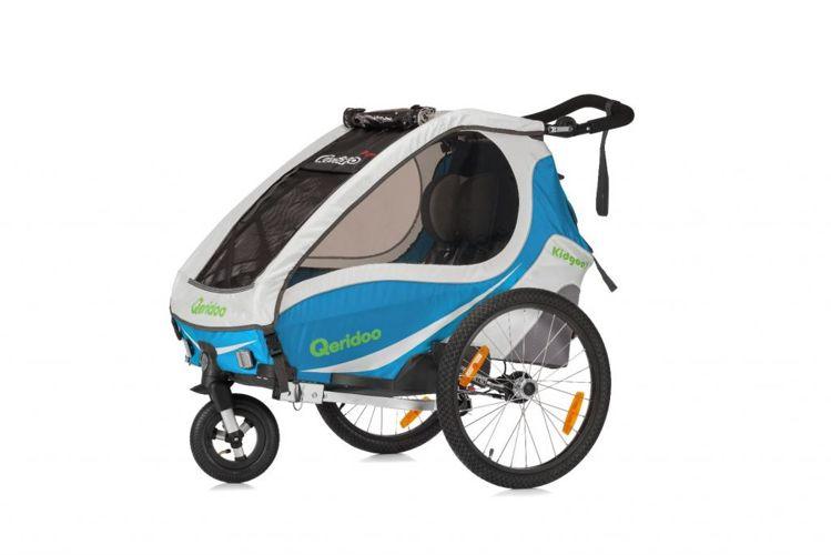 Qerido Kid Goo - amortyzowana przyczepka rowerowa do przewozu dzieci
