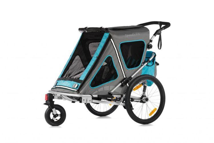 Qerido SpeedKid 2 - amortyzowana przyczepka rowerowa do przewozu dzieci