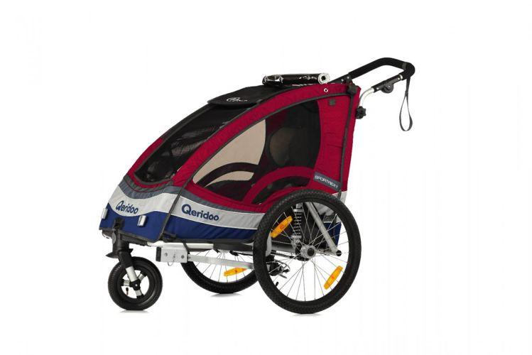 Qerido Sportrex - amortyzowana przyczepka rowerowa do przewozu dzieci