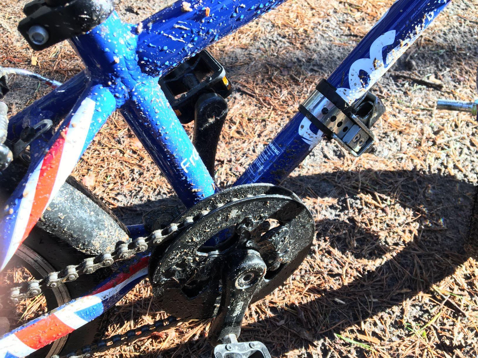 Frog 44 po intensywnym wyjeździe rowerowym