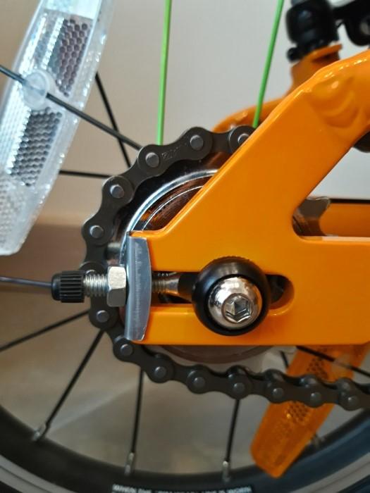 Napinacz łańcucha w lekkim rowerze Frog 40/43