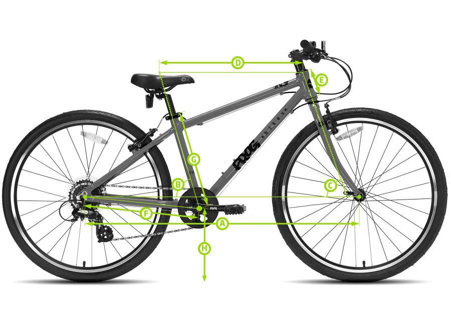 """Geometria lekkiego roweru dla dzieci Frog 55 - 20"""""""