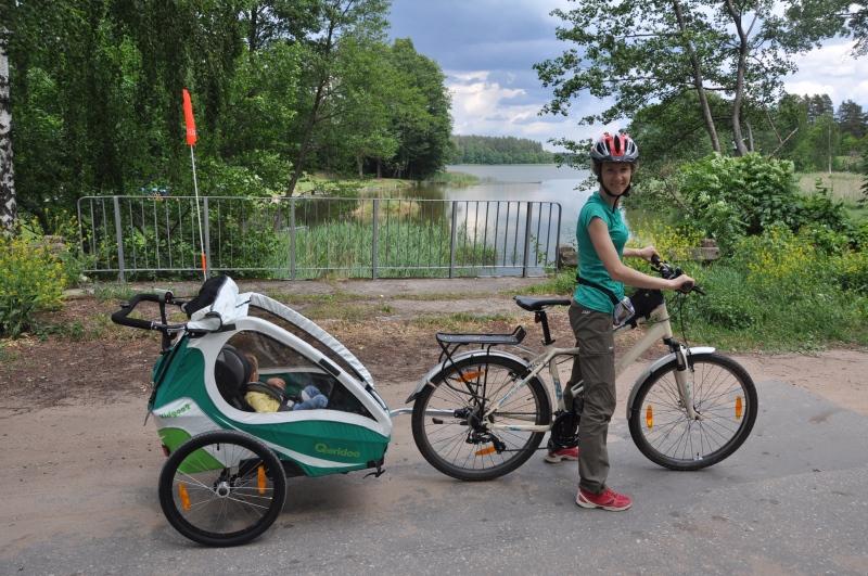 Qeridoo Kid Goo 2 na wycieczce rowerowej w Puszczy Augustowskiej