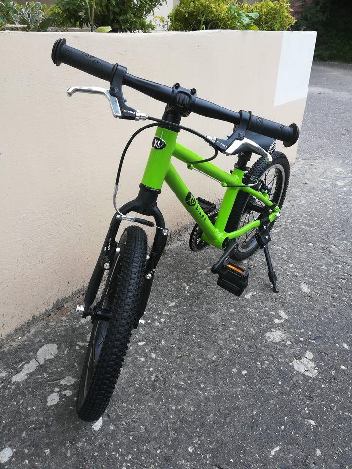 """Zielony Kubikes 16"""" MTB - lekki rower na kołach 16"""" dla dziecka w wieku 4-5 lat:)"""