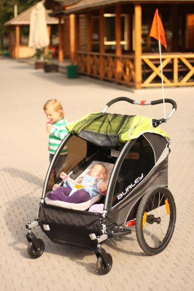 Burley D'Lite w wersji wózek - świetna przyczepka dla 2 dzieci!